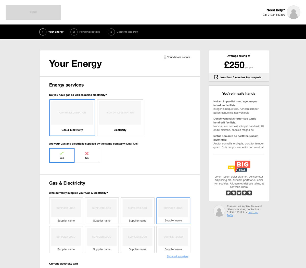 Lamb - Your energy wireframe